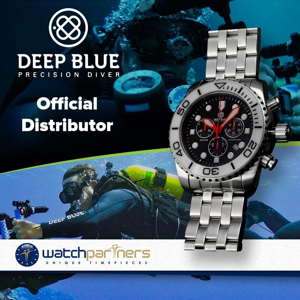 Deep blue 45mm sea ram 500 chronograph 316l stainless - Dive deep blue ...