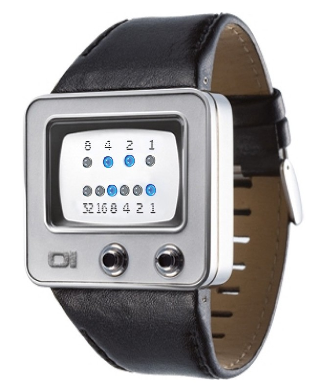 01 THE ONE TV BINARY LED COOL FASHION WATCH45mm DIAMETER TV109B1 LEATHER BAND