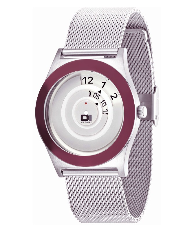 GENUINE 01 THE ONE SPINNING WHEEL AN06G07 COOL DESIGN FASHION WATCH MESH BAND