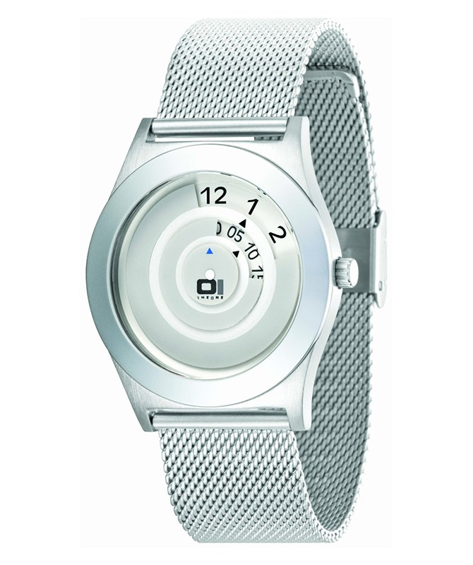 GENUINE 01 THE ONE SPINNING WHEEL AN06G09 COOL DESIGN FASHION WATCH MESH BAND