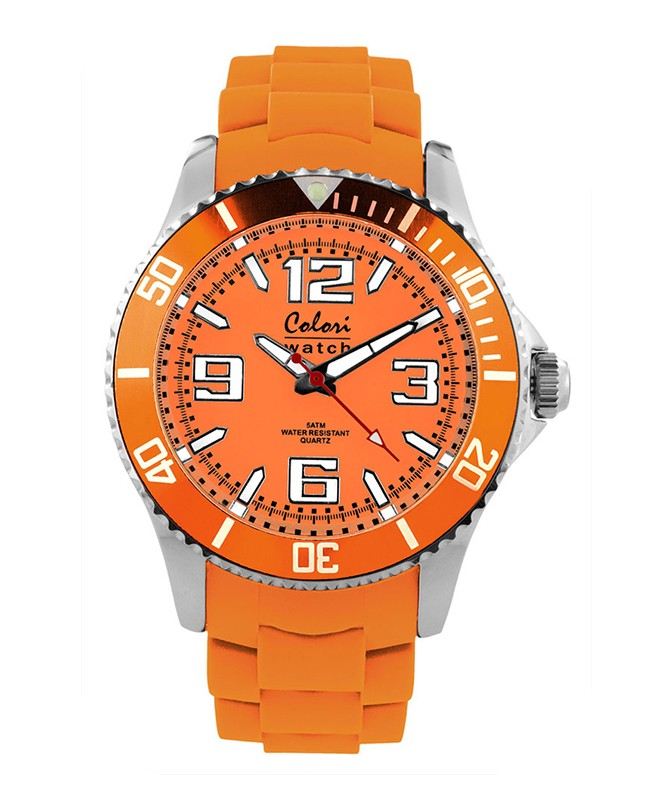 COLORI COOL STEEL METAL WATCH ORANGE