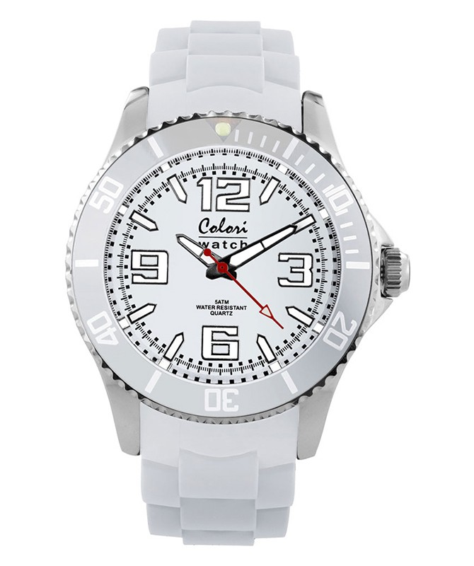 COLORI COOL STEEL METAL WATCH 40 WHITE
