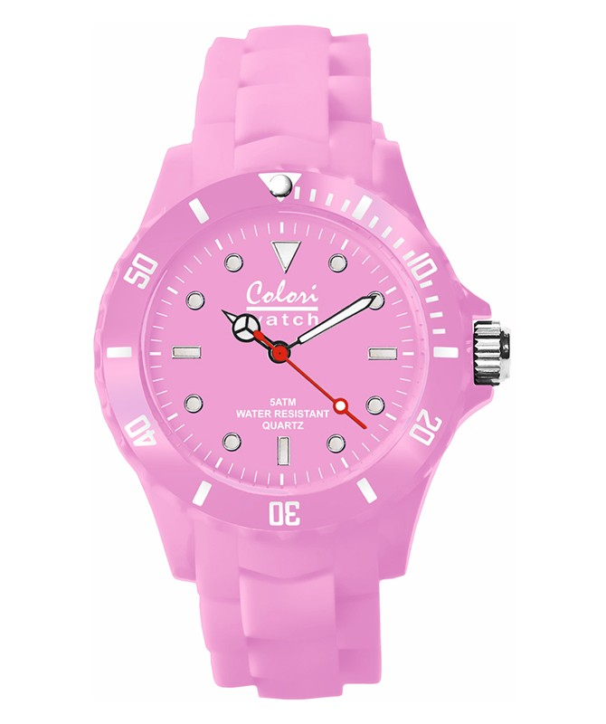 COLORI CLASSIC COLLECTION WATCH 50M WR LUMINOUS JAPAN QUARTZ BABY PINK