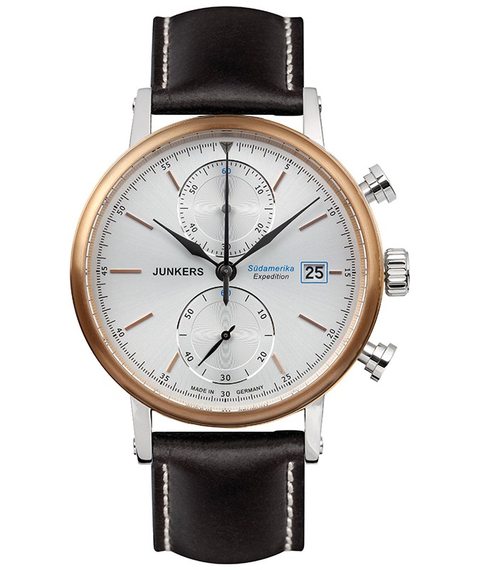 Junkers EXPEDITION SOUTH AMERICA Swiss Chrono watch 42mm case Beige dial 6588-1