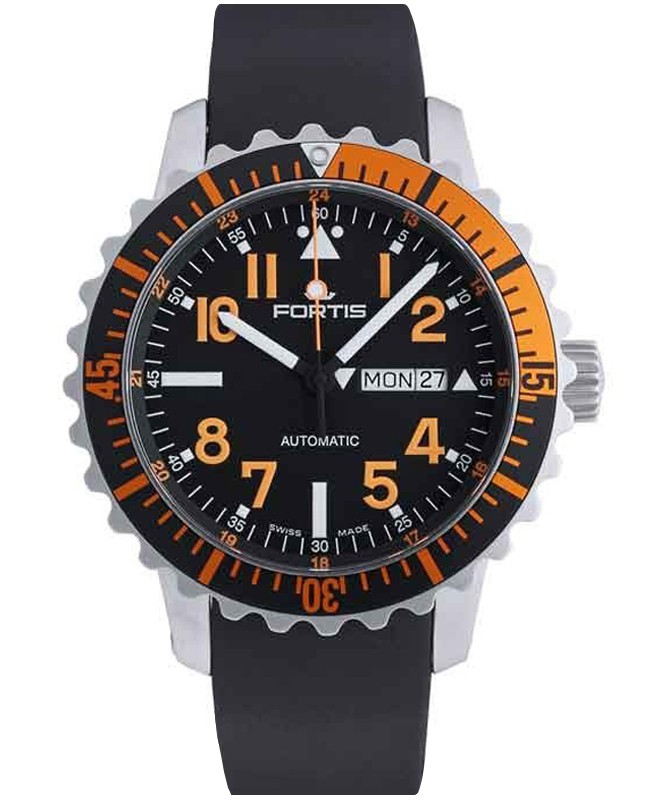 FORTIS Aquatis Marinemaster Swiss Auto Day/Date watch 200m WR 42mm 670.19.49 K