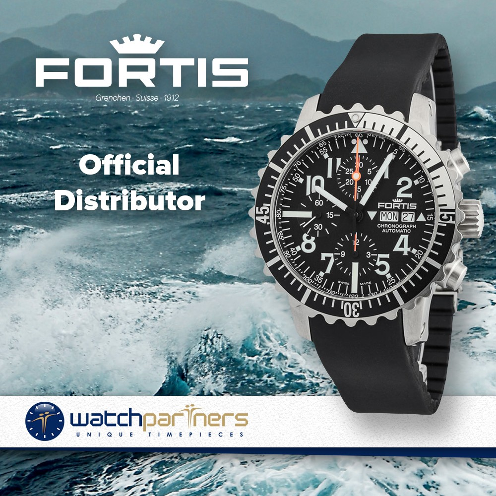 ... FORTIS Aquatis Marinemaster Chronograph Swiss Automatic watch 200m WR  671.17.41 bb4989990ba