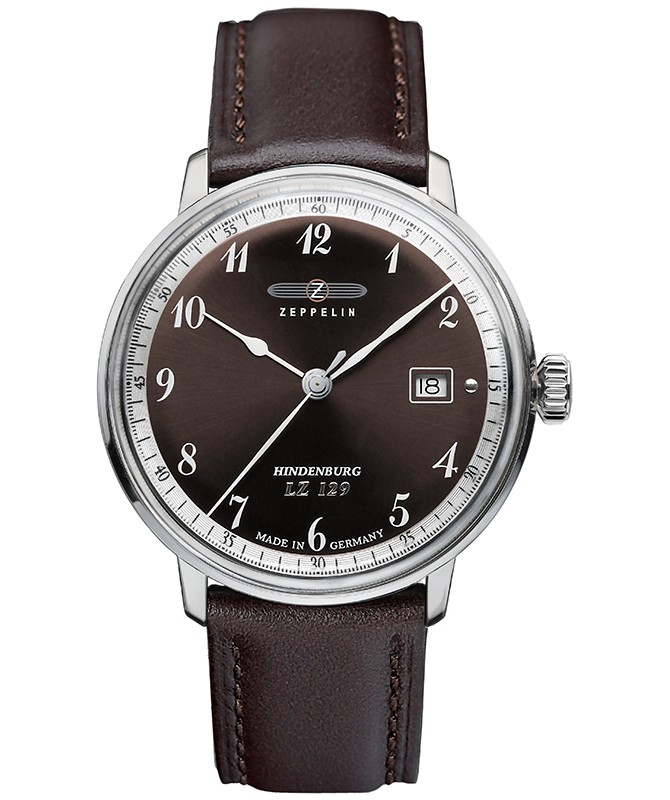 Zeppelin LZ129 Hindenburg Quartz watch 40mm S/Steel case 3ATM Brown dial 7046-5