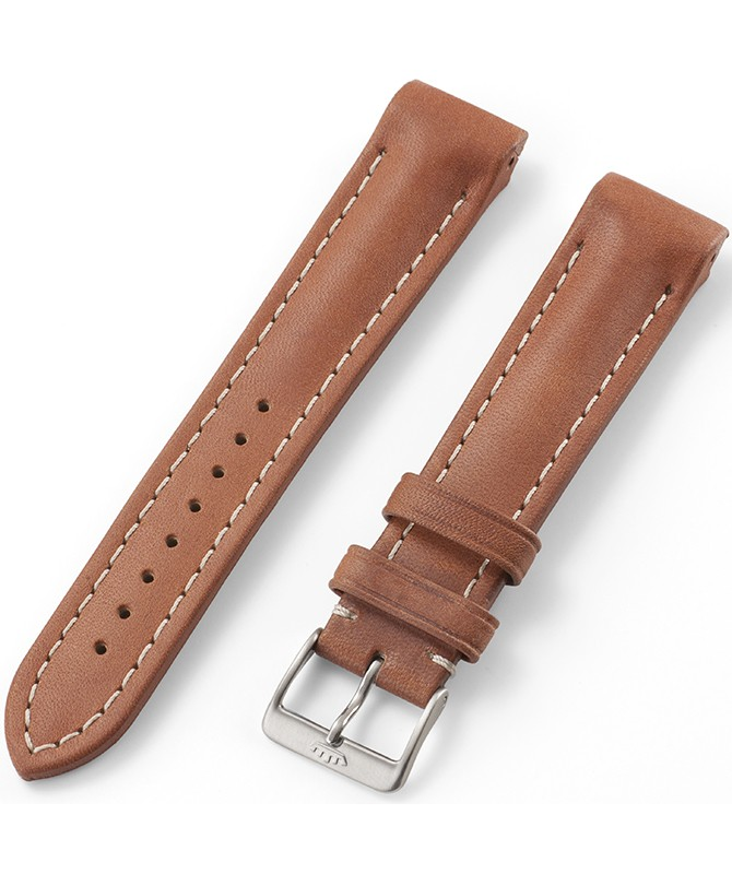 FORTIS Liberty Gold Leather strap with pin buckle brushed 99.101.08.010