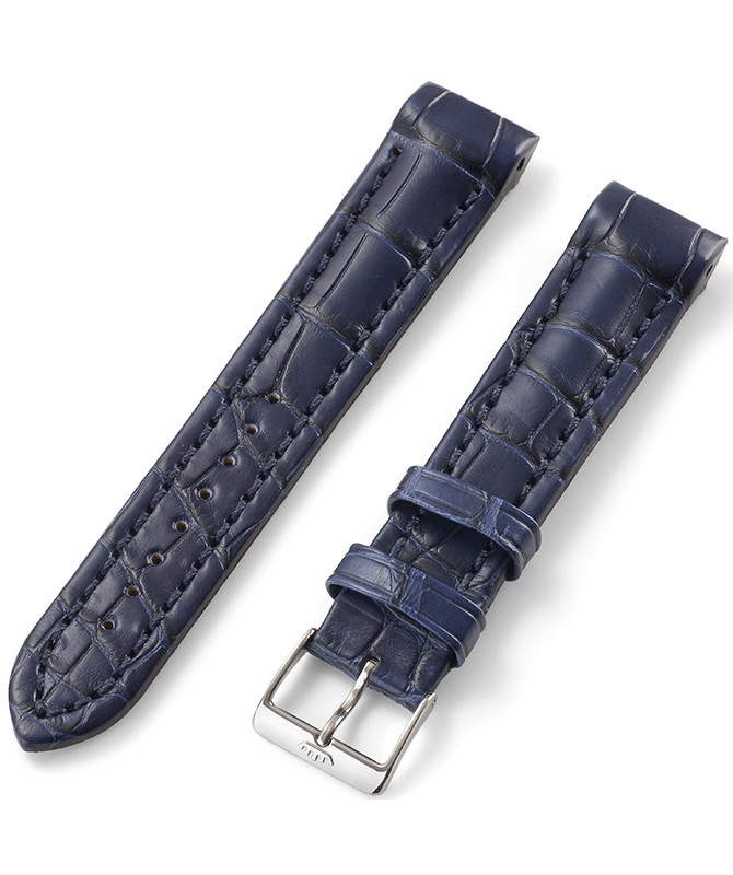 FORTIS B-42 Croco strap blue with End Piece, Pin buckle brushed 99.401.05.010