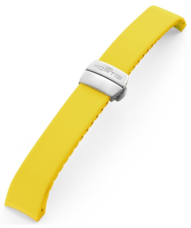 FORTIS B-42/F-43 Silicone strap yellow with folding clasp 99.99.04 Si