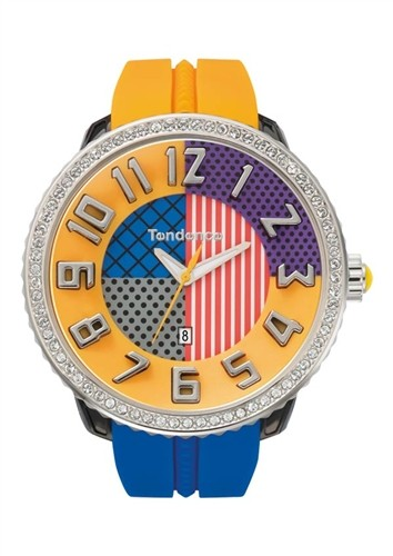 TENDENCE WATCH CRAZY - BLUE & ORANGE 3 HANDS T0430064