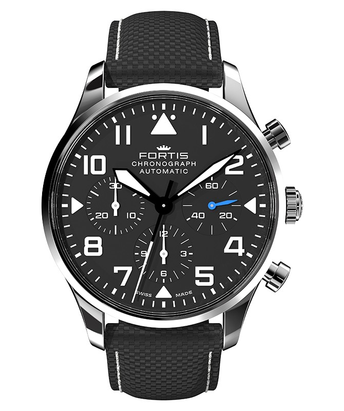 Fortis Aviatis PILOT CLASSIC CHRONOGRAPH 41mm Swiss Automatic watch 904.21.41
