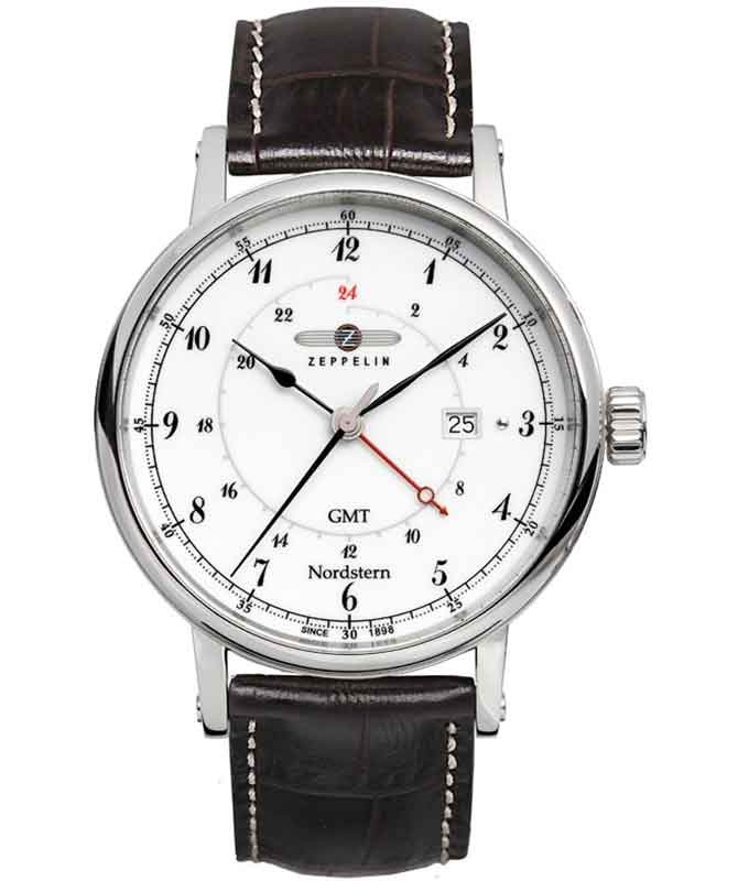 ZEPPELIN NORDSTERN 7546-1 QUARTZ WATCH SWISS RONDA MOVEMENT 100m WR WHITE DIAL