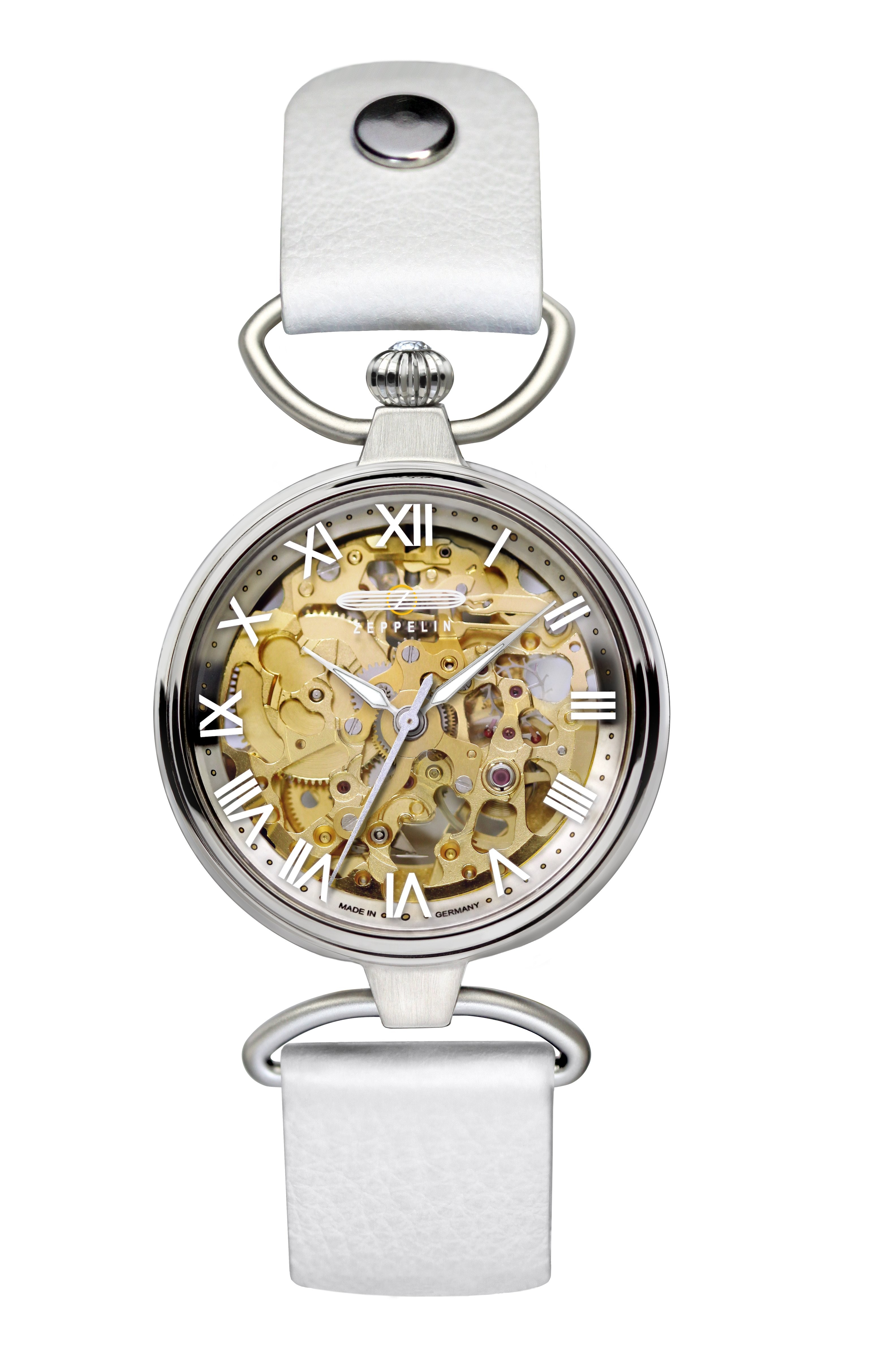 ZEPPELIN PRINCESS OF THE SKY LADIES AUTO SKELETON WATCH 34mm DIAM 5ATM WR 7457-5