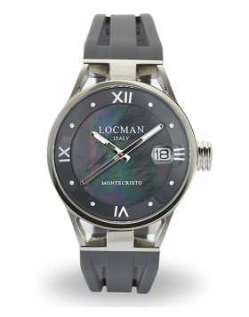 LOCMAN Watch Montecristo LADY Only Time Quartz Movement 10ATM 34mm Blk MOP Dial