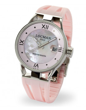 LOCMAN Watch Montecristo LADY Only Time Quartz Movement 10ATM 34mm Pink MOP Dial