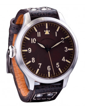 AZIMUTH MILITARE-1 BOMBARDIER VI WATCH VINTAGE ST96-4 HAND WIND LIMITED