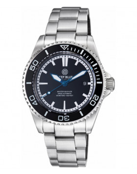 Deep Blue Master 500 Automatic Diving Watch 42mm Swiss Mvt Inner Lume Black dial