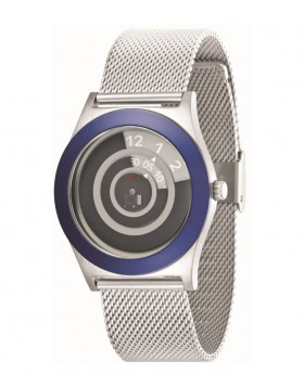 GENUINE 01 THE ONE SPINNING WHEEL AN06G08 COOL DESIGN FASHION WATCH MESH BAND