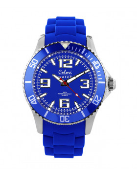 COLORI CLASSIC FASHION WATCH 50m WR LUMINOUS JAPAN QUARTZ COBALT
