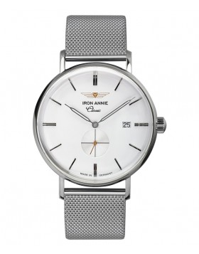 Iron Annie Classic Series Swiss Quartz Watch 41mm Case White Dial