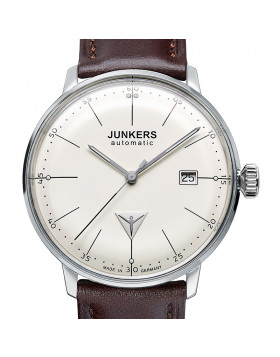 JUNKERS BAUHAUS 6050-5 AUTO WATCH SWISS ETA MOVEMENT BEIGE DIAL