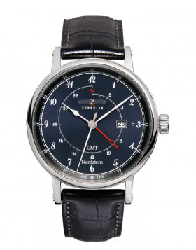 Zeppelin Nordstern Watch Series Blue Dial With White Digits / Markers 7546-3