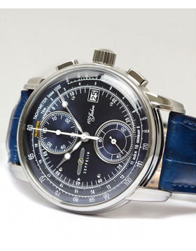 Zeppelin 100 Years Chronograph Quartz watch 42mm S/Steel case Blue dial 8670-3