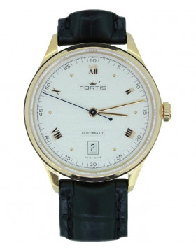 Fortis Terrestis 19FORTIS AM Classical Auto watch 18K R/Gold case 902.13.22 L10