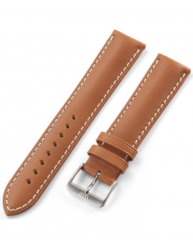 FORTIS Leatherstrap Vintage Liberty Gold with pin buckle brushed 99.112.08.010