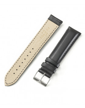 FORTIS Leather strap Black T/T With Brushed Pin buckle 99.121.0140.010