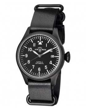 Air Blue ALPHA A PVD Pilots watch Auto Date Sapphire Crystal 41mm case
