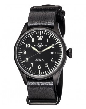 Air Blue ALPHA A PVD Pilots watch Auto Date Sapphire Crystal 44mm case