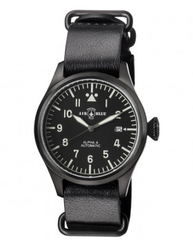 Air Blue ALPHA A PVD Pilots watch Auto Date Sapphire Crystal 41/44/47mm case