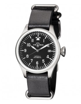 Air Blue ALPHA A S/S Pilots watch Auto Date Sapphire Crystal 41mm case