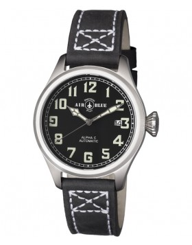 Air Blue ALPHA C S/S Pilots watch Automatic with Date Sapphire Crystal