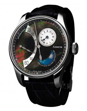 AZIMUTH RETROGRADE MINUTES JOUR ET NUIT WATCH DAYNIGHT MOTHER OF PEARL DIAL