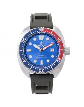 Deep Blue MILITARY DIVER 300 Swiss Automatic watch 44mm Blu/Red Bezel Blue Dial