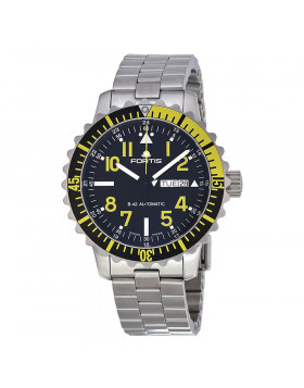 FORTIS Aquatis Marinemaster Swiss Auto Day/Date watch 200m WR 42mm 670.24.14 M