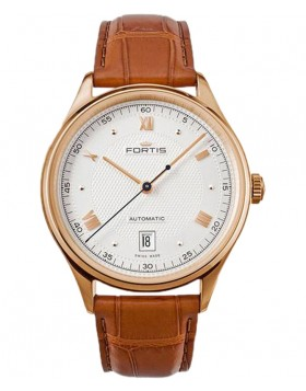 Fortis Terrestis 19FORTIS AM Classic Auto watch 18K R/Gold case 902.13.22 LCI38