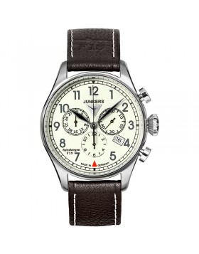 JUNKERS SPITZBERGEN F13 6186-5 QUARTZ WATCH with SWISS RONDA MOVEMENT 50M WR FULLY LUMINOUS DIAL