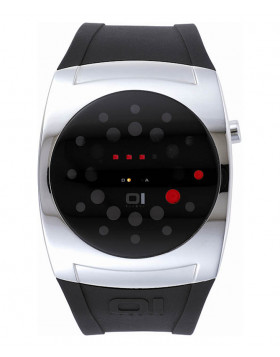 01 THE ONE LIGHTMARE LED COOL FASHION WATCH L102R3 ROUND DIAL PU STRAP