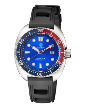 Deep Blue MILITARY DIVER 300 Swiss Automatic watch 44mm Red/Blu Bez Lt.Blu dial