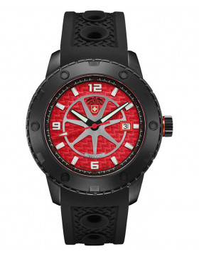 CX Swiss Military RALLYE AUTO watch 44mm DLC case ETA 2824-2 movt Red dial 2759