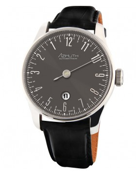 Azimuth 'Back in Time' Watch Backwards ETA Movement with Date Gun Metal Grey