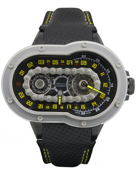 Azimuth CRAZY RIDER auto watch Motorcycle engine design Engine block back BLACK