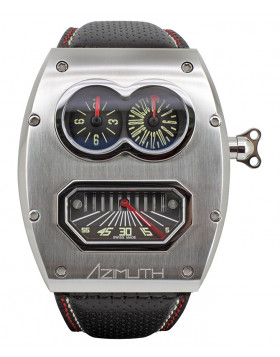 Azimuth SP-1 Mechanique MR.ROBOTO MKII MR2 auto watch GMT Retro min. Carbon case