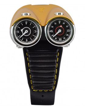Azimuth TWIN TURBO mechanical watch Racing car theme 2 T/Zones Yellow bonnet