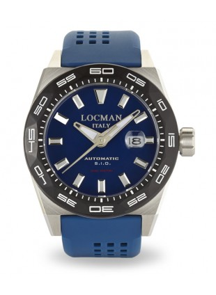 LOCMAN Watch Stealth 300M Time Automatic 46mm Case 30ATM Blue Strap Blue Dial