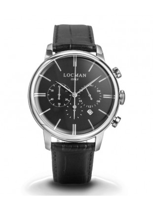 LOCMAN Watch 1960 Cronografo Quartz Men's Chronograph Watch 5ATM 42mm Black Dial